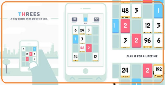 Threes, It is so addictive game for ipad