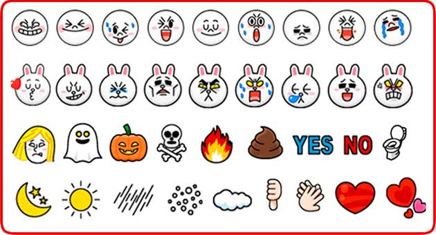 Line Emoji Keyboard, install and enjoy